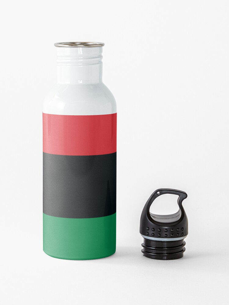 Alternate view of Pan African Flag T-Shirt - UNIA Flag Sticker - Afro American Flag Water Bottle