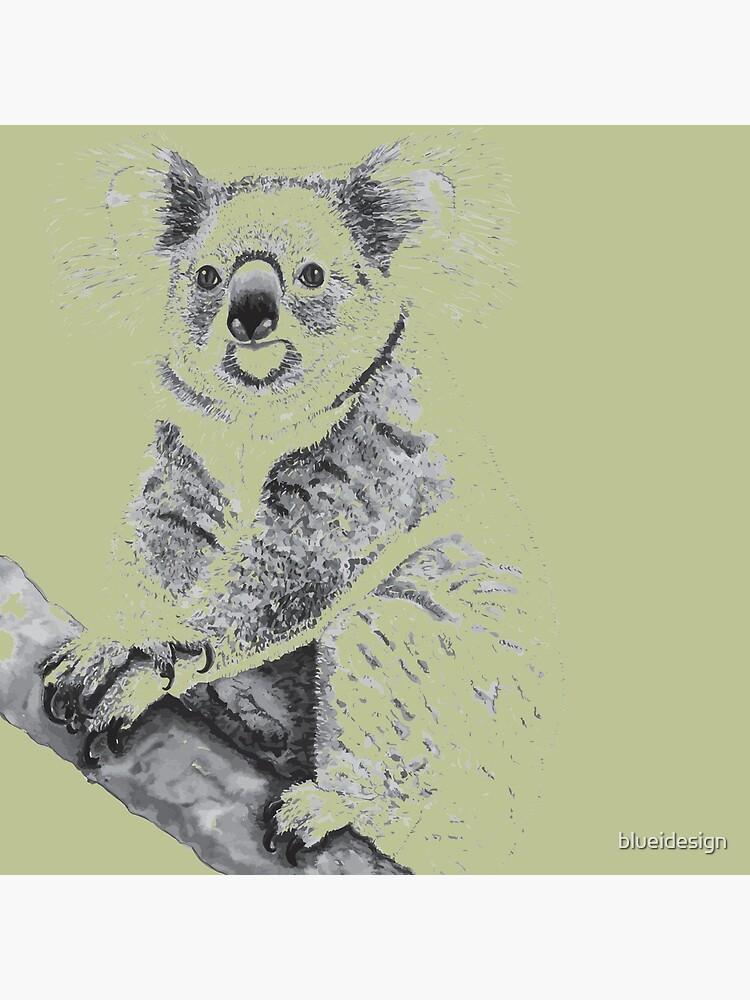 Koala Black and White by blueidesign