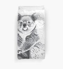 Koala Black and White Duvet Cover