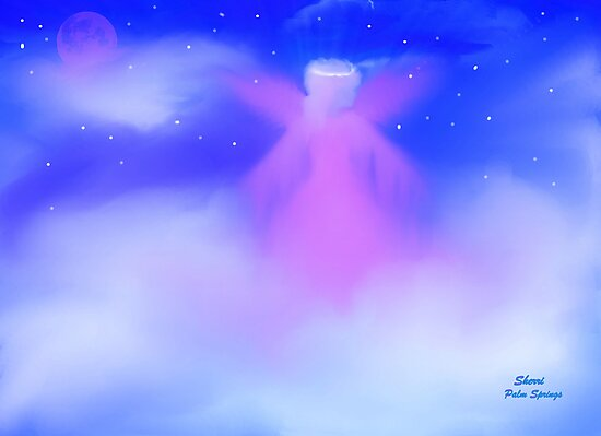 JANUARY ANGEL, ANGEL IN MY HEART by SherriOfPalmSprings Sherri Nicholas-