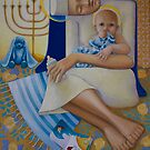 Mother and Child, mixed media on Canvas, 2010 by fiona vermeeren