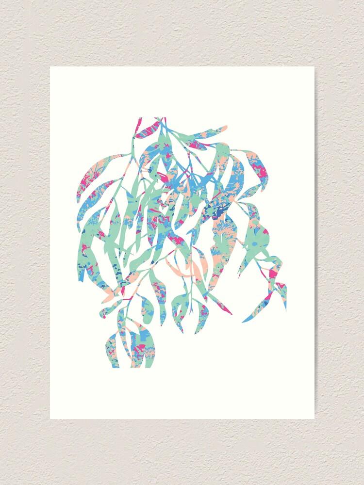 Alternate view of Eucalyptus Abstract Wildflowers Art Print