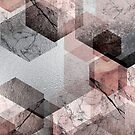 Hexagon Abstract in Pink von UrbanEpiphany