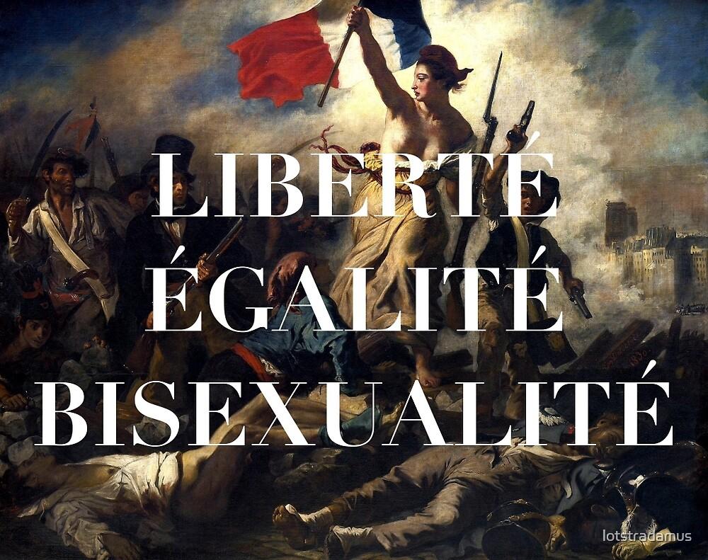 """LIBERTE EGALITE BISEXUALITE"" by lotstradamus"
