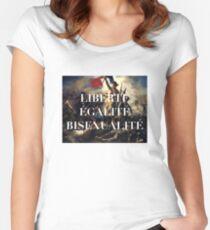 Camiseta entallada de cuello ancho LIBERTE EGALITE BISEXUALITE