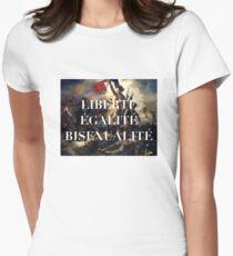LIBERTE EGALITE BISEXUALITE Women's Fitted T-Shirt