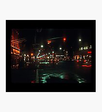 Greenwich Village at Night Photographic Print