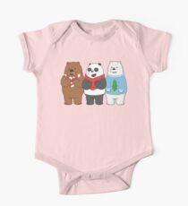 We Bare Bears Short Sleeve Baby One-Piece