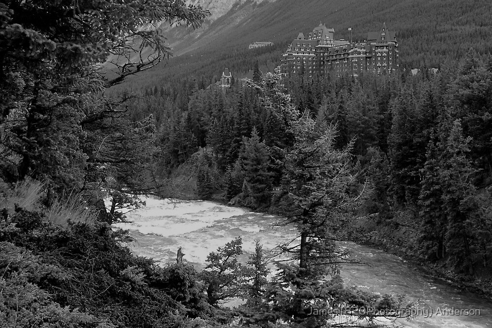Banff Springs Hotel (BW) by James Anderson