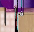 """Three Clock""  by Patrice Baldwin"