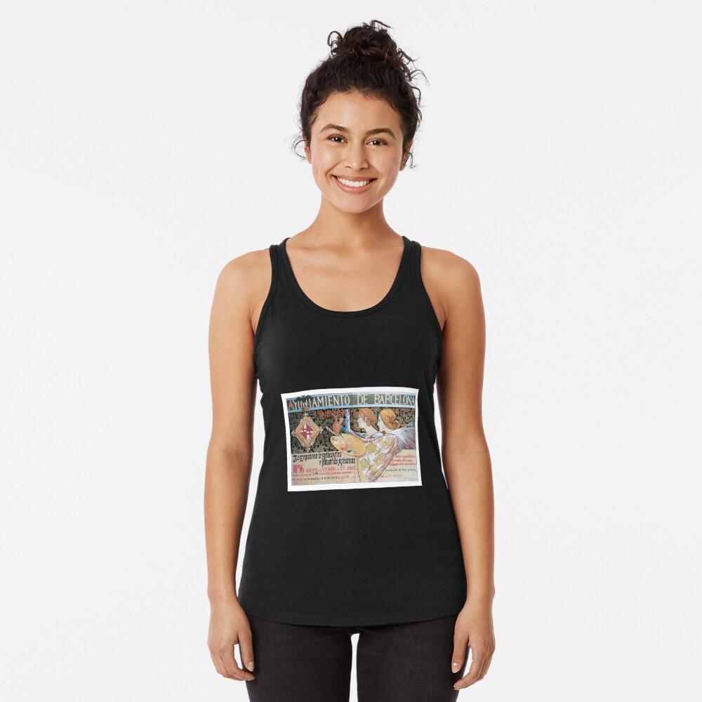 Alexandre de Riquer 3ra Exposición de Bellas Artes é Industrias Artísticas Camiseta con espalda nadadora