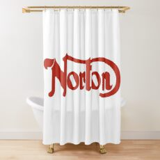 Fashion Art and decor items of Norton Motorcycles (red) Logo Shower Curtain