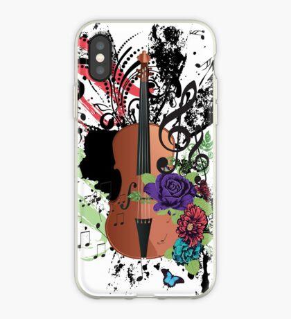 Grunge-Violine-Illustration iPhone-Hülle & Cover