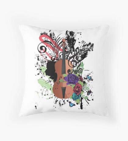 Grunge-Violine-Illustration Dekokissen