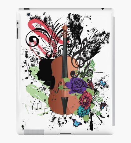 Grunge-Violine-Illustration iPad-Hülle & Klebefolie
