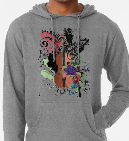 Grunge-Violine-Illustration Leichter Hoodie
