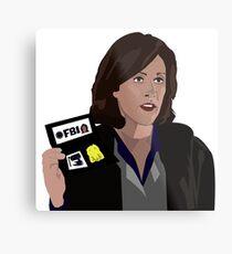 Agent Monica reyes FBI Metal Print