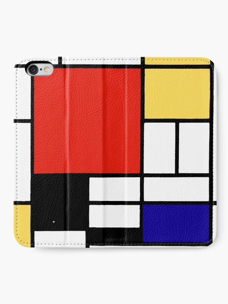 Alternate view of Mondrian  iPhone Wallet