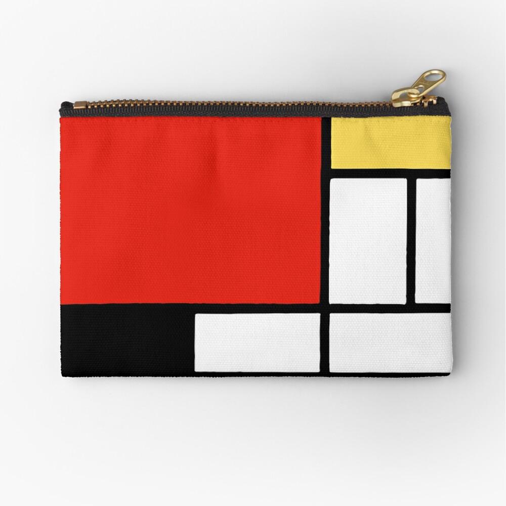 Mondrian  Zipper Pouch