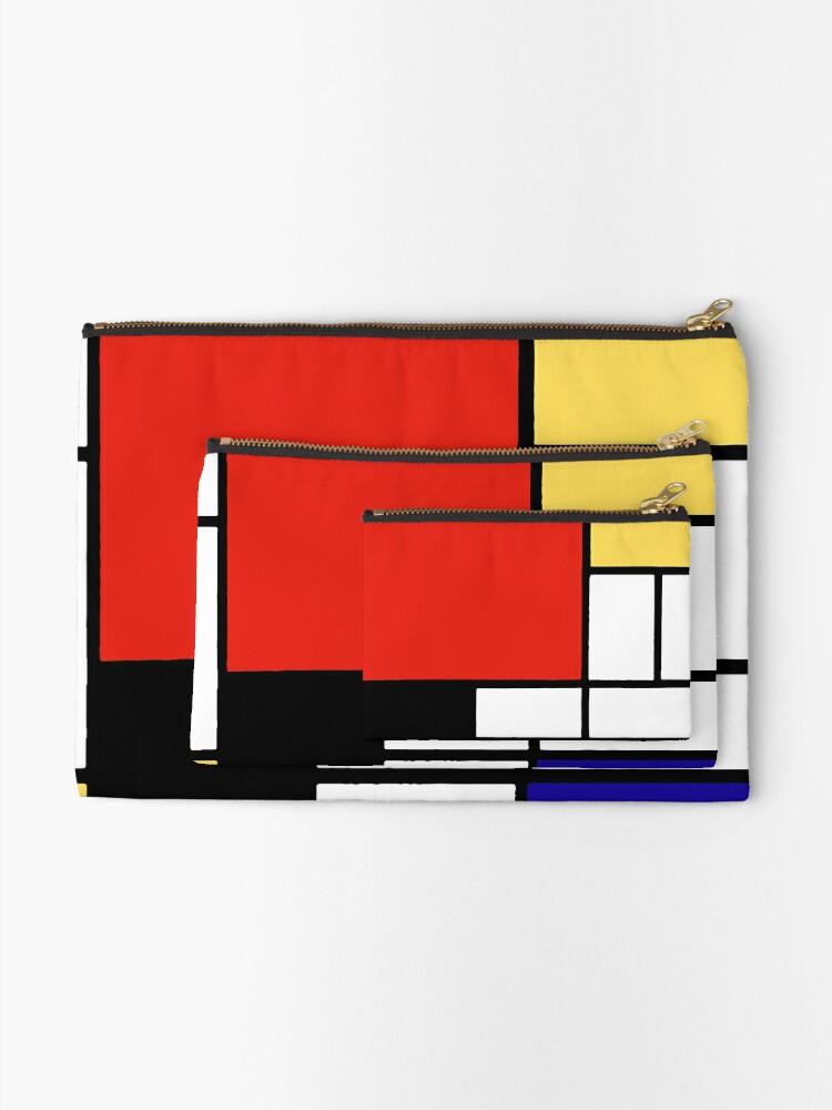 Alternate view of Mondrian  Zipper Pouch