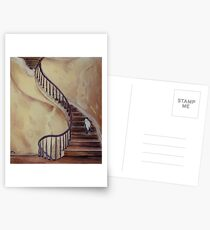 Cat on the Stairs Postcards