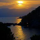 Fiascherino Sunset by Christopher Cullen