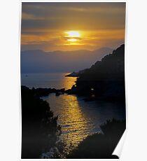Fiascherino Sunset Poster