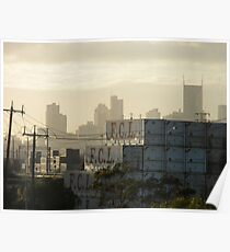 industrial overlays commercial - Melbourne Poster