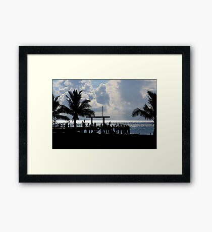 Palm Island dreaming part 2 Framed Print