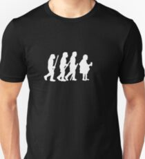evolution of modern man on dark Unisex T-Shirt