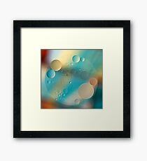 Oil and Water ~ Pastel Framed Print