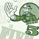 Abraham Lincoln High Five by Jeff Morin