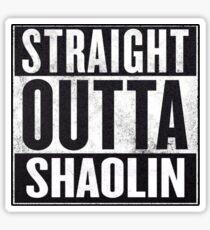 "straight outta Shaolin ""Staten Island"" Sticker"