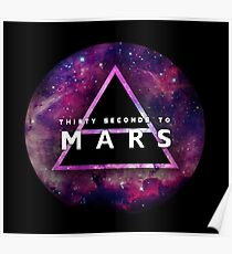 30 Seconds to Mars: Galaxy Design Poster