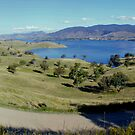 hume weir looking over Tallangatta,panorama by dmaxwell