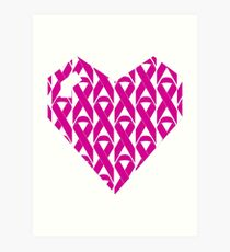 Breast Cancer Love n Support Art Print