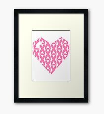 Breast Cancer Love n Support Framed Print