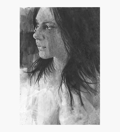 a pen and ink face Photographic Print