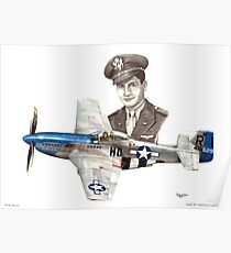 """""""The Last WWII Ace - Major Alden Rigby"""" Poster"""