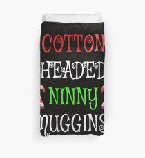 Womens Ninny Muggins! Cotton Headed Funny Christmas Elf V-Neck Duvet Cover