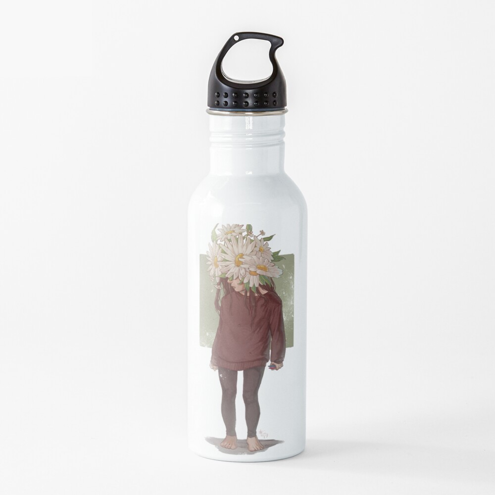 care and the daisies Water Bottle
