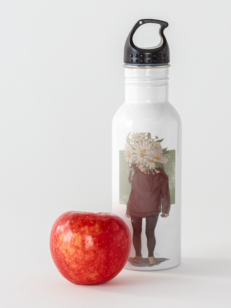 Alternate view of care and the daisies Water Bottle