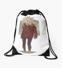 care and the daisies Drawstring Bag