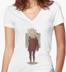 care and the daisies Fitted V-Neck T-Shirt
