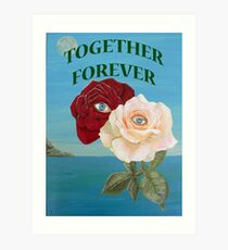 Roses, Together Forever Art Print