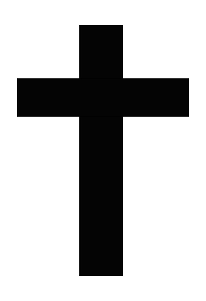 White and Black Goth Cross by mintdawn