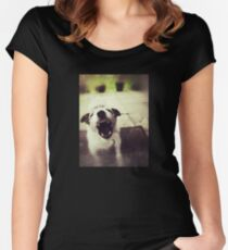 Angry Jack Russell Fitted Scoop T-Shirt