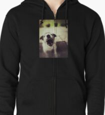 Angry Jack Russell Zipped Hoodie
