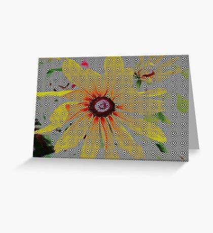 Yellow sunflower design Greeting Card