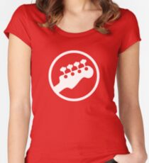 Bass Headstock T-shirt (Scott Pilgrim) Women's Fitted Scoop T-Shirt